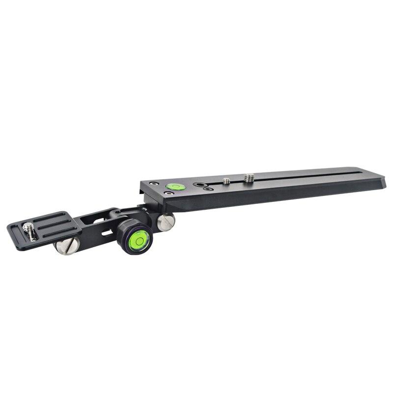 Support de lentille téléobjectif support de monture de support 250mm fixation rapide plaque Rail 1/4