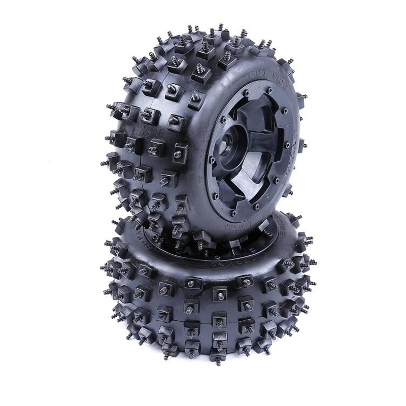 High quality knobby nail tyres - rear tires assembly for 1/5 rc gasoline car hpi racing baja 5B remote control toys model truckHigh quality knobby nail tyres - rear tires assembly for 1/5 rc gasoline car hpi racing baja 5B remote control toys model truck
