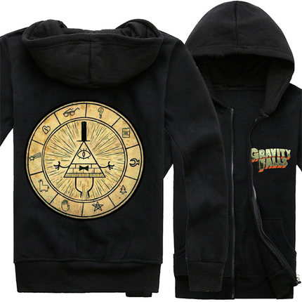Gravity Falls Bill Cipher Cosplay Hoodie Jacket Winter Thicken Coat in stock free shipping