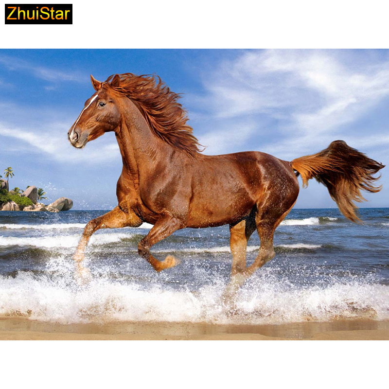 5D Diy diamond painting cross stitch Steed Horse Full Square stone Diamond embroidery Needlework Rhinestone Mosaic Crafts