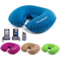 U Shaped AIR Pillow Inflatable Portable Travel Neck Cushion Camp Beach Car Plane Head Rest Bed