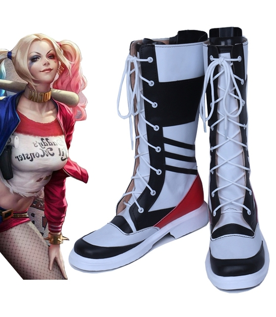 fbe3ddce2bc Batman Suicide Squad Harley Quinn male version cos Cosplay Shoes Boots shoe  boot  NT06 Halloween Christmas