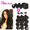 7A Brazilian Virgin Hair With Closure Peerless Virgin Hair With Closure 3 Bundles Unprocessed Brizilian Body Wave With Closure