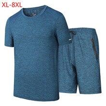 2019 Плюс Размер мужской летний личный пляж Quick Dry мужской комплект повседневный спортивный костю