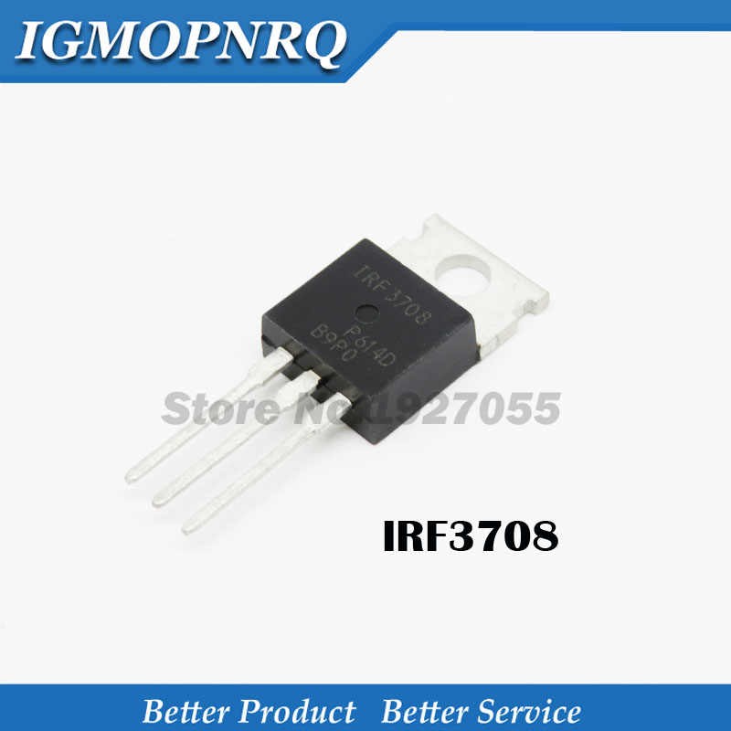 10pcs IRF3708 TO-220 3708 N channel 30 v 62 a MOS field effect tube