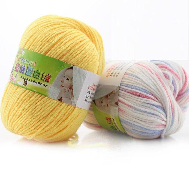 250g Baby Wolle Seidenprotein Wolle Hohe Qualität Baumwolle Kinder