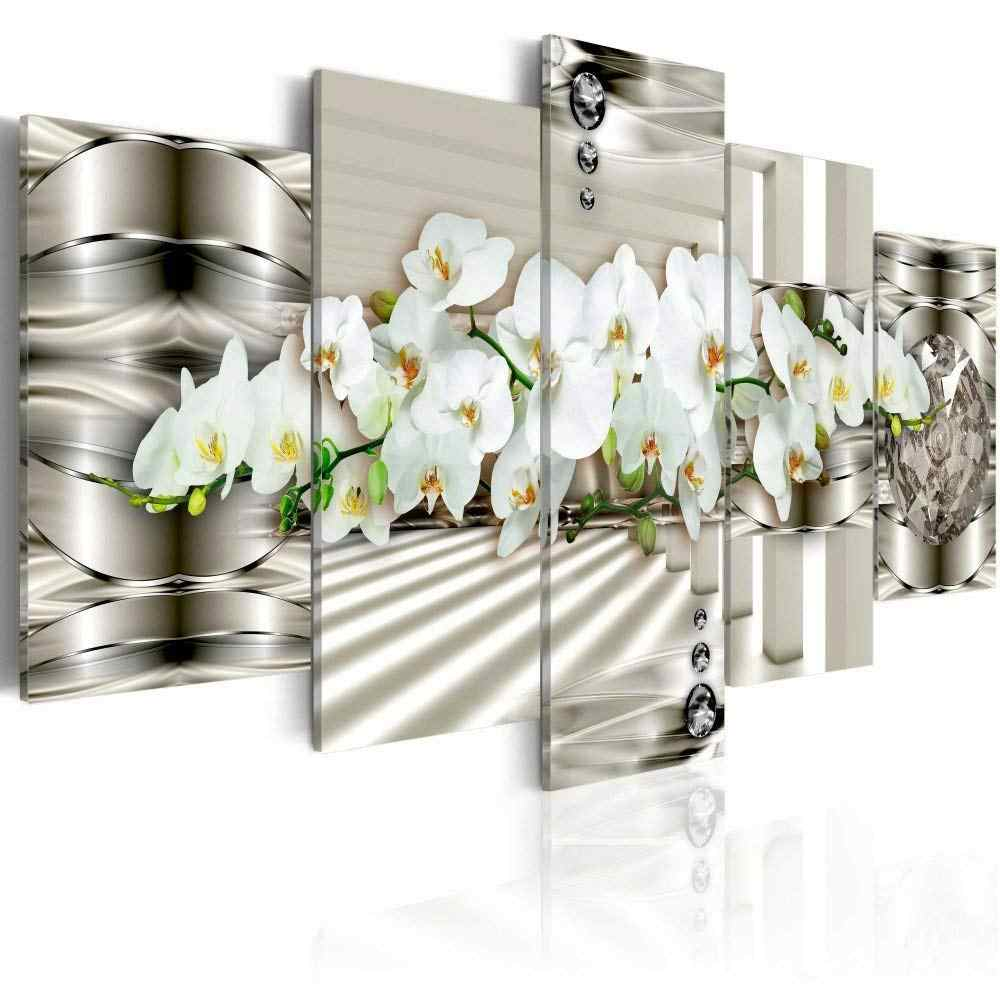 5 Piece Modern Canvas Oil Paintings Hd Print Flowers Painting Wall Modular Pictures For Living Room Art Bedroom Picture Frame