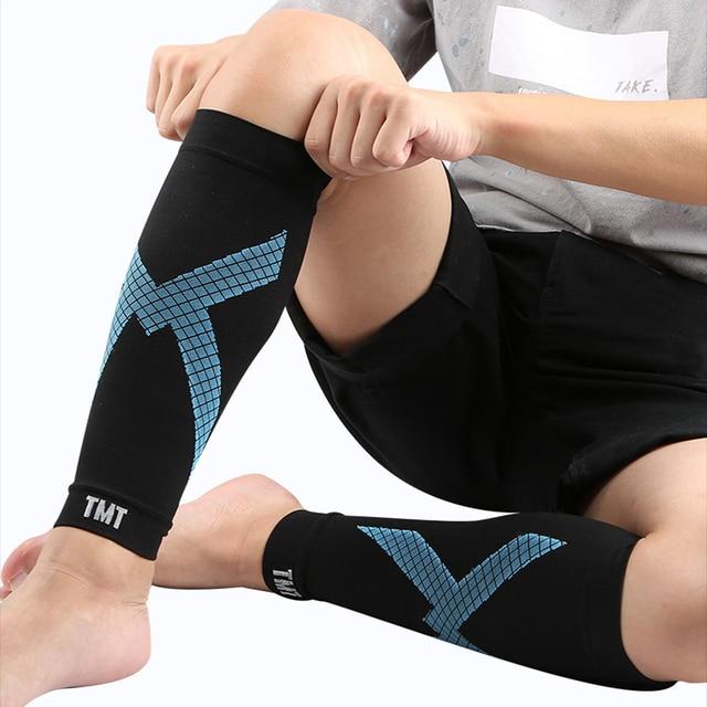 Tmt compressão bezerro manga vôlei de basquete apoio masculino bezerro elástico ciclismo perna aquecedores corrida futebol esporte manga perna 5