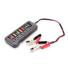 QX3012 Portable 12 Volt LED Digital Battery / Alternator Tester Car Battery Tester with Clamps and Light Indicators high quality(China)