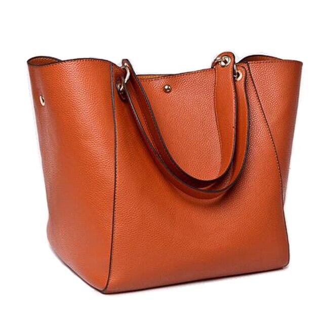 dfb7780b669 Autumn Big Female Handbag Famous Brand Leather Shoulder Solid Designer High  Quality Ladies Hand For Shopping