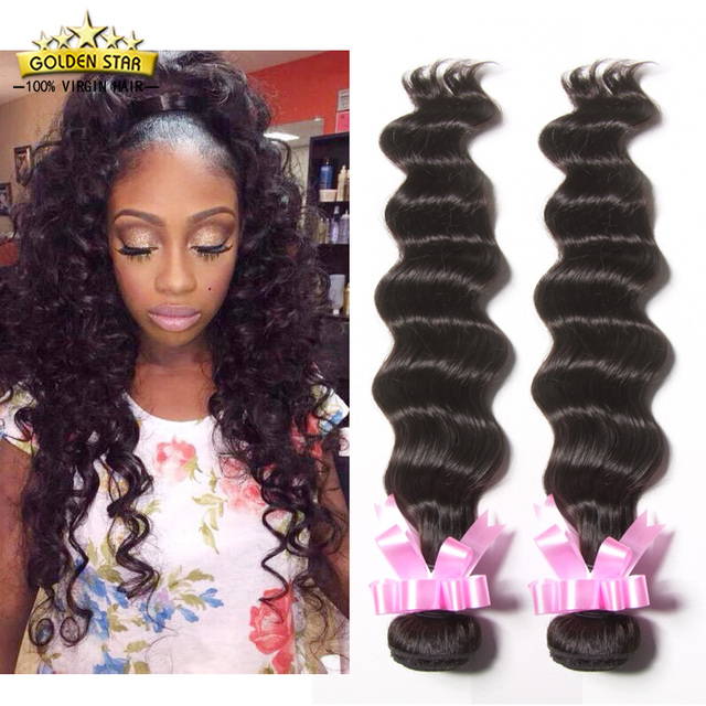 8a Peruvian Virgin Hair Loose Deep Wave 3 Bundles Deal Ocean Wave