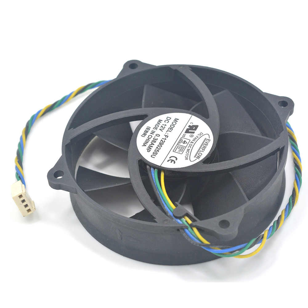 hight resolution of  computer pc cpu cooler fan everflow f129025su dc 12v 4pin 0 38a heatsink cooling fan