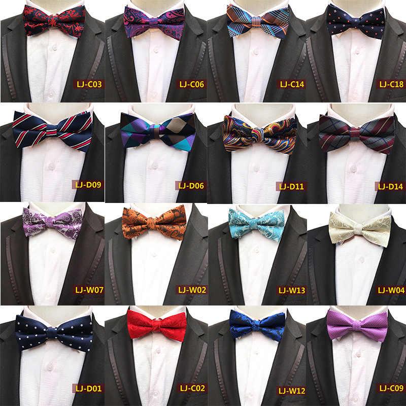 5a3b49ff34da Classic Self Bow Ties for Man Paisley Striped Floral Mens BowTie Silk  Necktie Wedding Jacquard Shirt