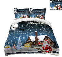 bedding set full size 3D bedsheet Duvet Pillowcase bed cover Twin Queen Bed Linen Santa Claus Home decorate California king