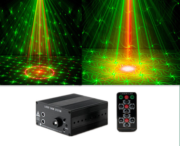 48 Figures Laser Stage Light Club Bar DJ KTY Home Party Laser  LED  rotating lights AC110-240V 9W bola de disco led transctego laser disco light stage led lumiere 48 in 1 rgb projector dj party sound lights mini laser lamp strobe bar lamps