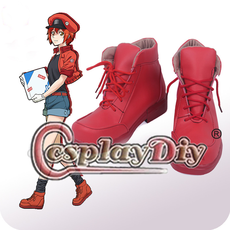 Cosplaydiy Anime At Work Cosplay Shoes Leukocyte U-1146 Cosplay Hataraku Saibou Shoes Boots L320