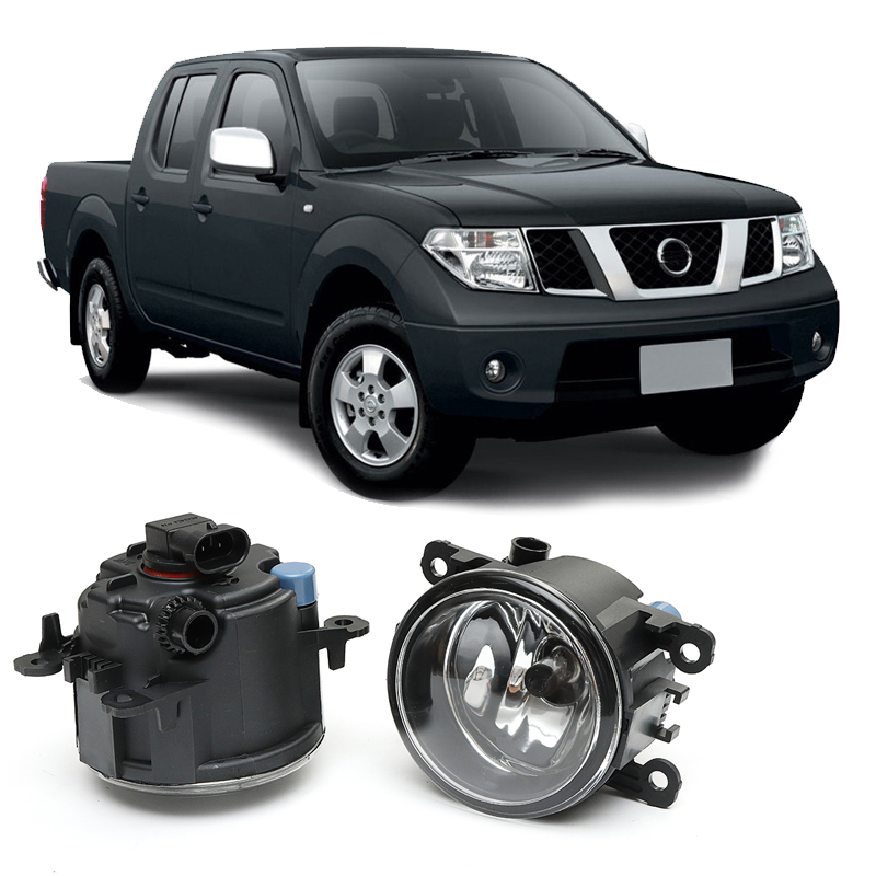 2005-2014 For nissan Frontier Navara D40 Clear Lens Fog Light Kit Lamp Daytime Running Cut-Line Lights LED Car-Styling car fog lights lamp for mitsubishi triton 2 door 2009 on clear lens pair set wiring kit fog light set free shipping