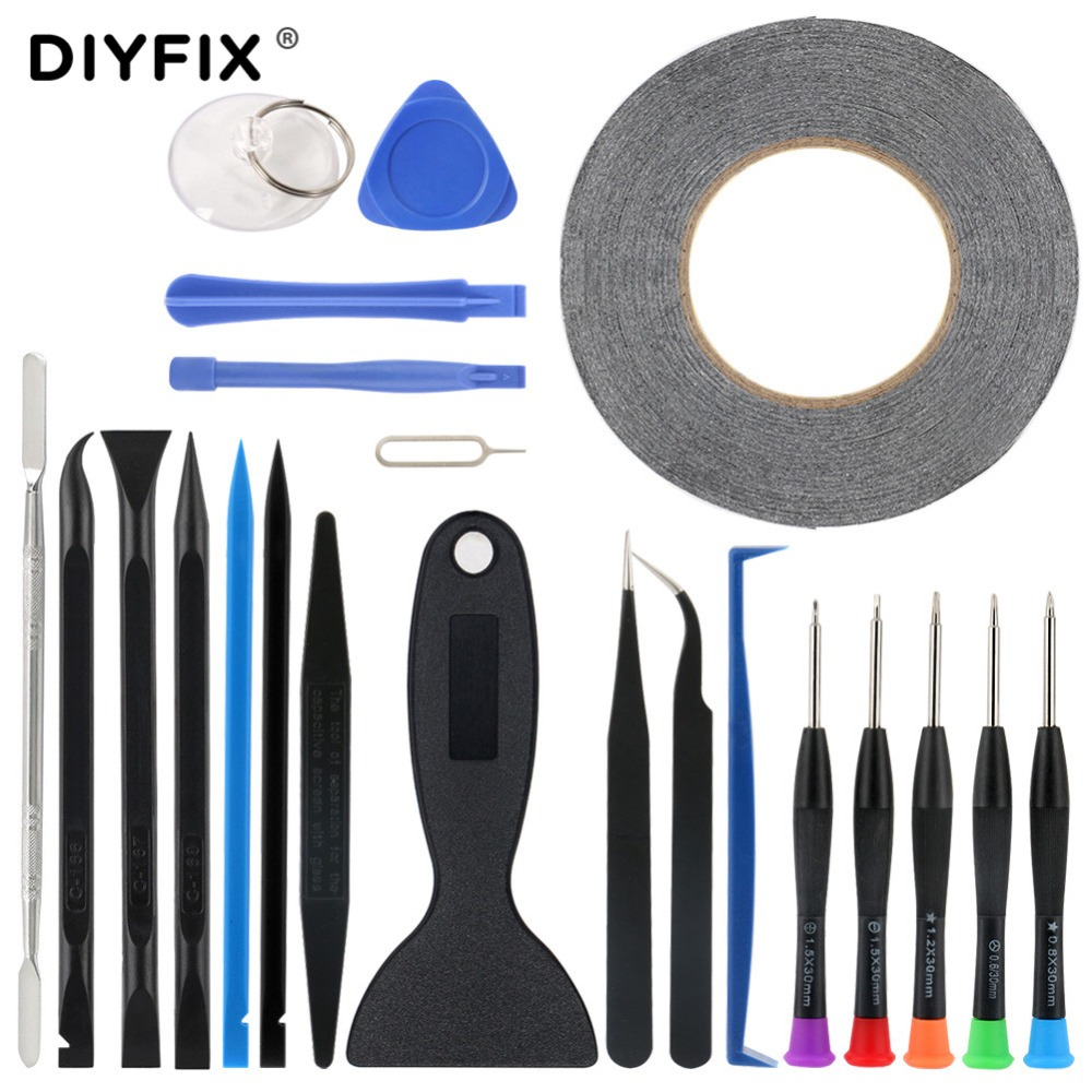 DIYFIX 22 In 1 Hand Tools Set Screen Opening Pry Crowbar Picks Screwdriver Set For IPhone 7 IPad Samsung Phone Repair Tools Set