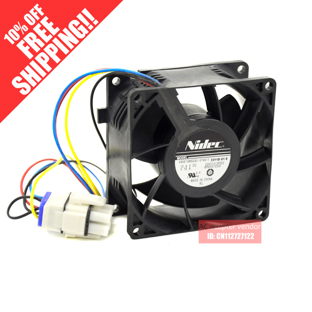 new AVC 8038 12V double ball high speed fan DYTB0838B2G 8cm computer server chassis fan replace PFR0812XHE