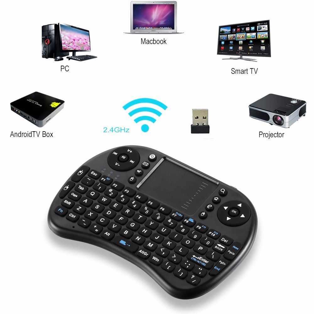 [Genuine] Ipazzport mini i9 2.4g Wireless Gaming Tastiera Inglese Ebraico Russo Con Il Mouse TouchPad per Tablet Mini PC TV BOX