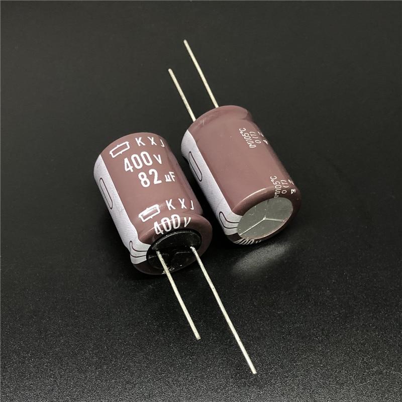 3pcs 82uF 400V NCC KXJ Series 18x25mm Long Life High Reliability 400V82uF Aluminum Electrolytic Capacitor