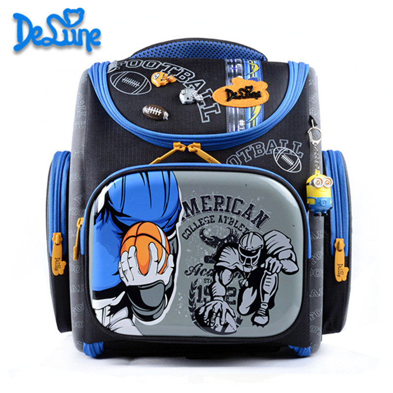 Delune School Bag 2016 Children Backpack High Quality 3D Print School Bags for Boys Girls Child Bags Primary School Backpacks