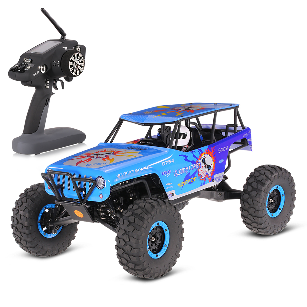 WLtoys 10428 RC Cars 2.4G 1:10 Scale 540 Brushed Motor Remote Control Electric Wild Trac ...