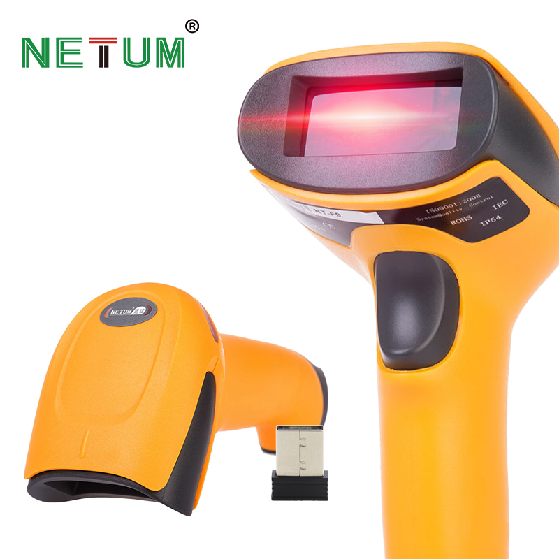 Barcode Scanner Code-Reader Laser Cordless-Bar POS for And Long-Range
