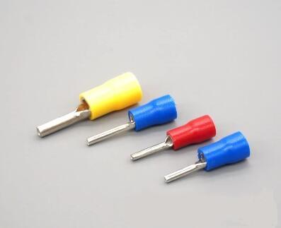 цена на PTV1.25-10 PTV1.25-12 PTV1.25-13 PTV1.25-16 PTV1.25-18 Red PVC Sleeve Insulating Terminals Connector for 22-16 AWG red