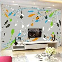 Custom large murals, simple fashion colour line wallpaper, T