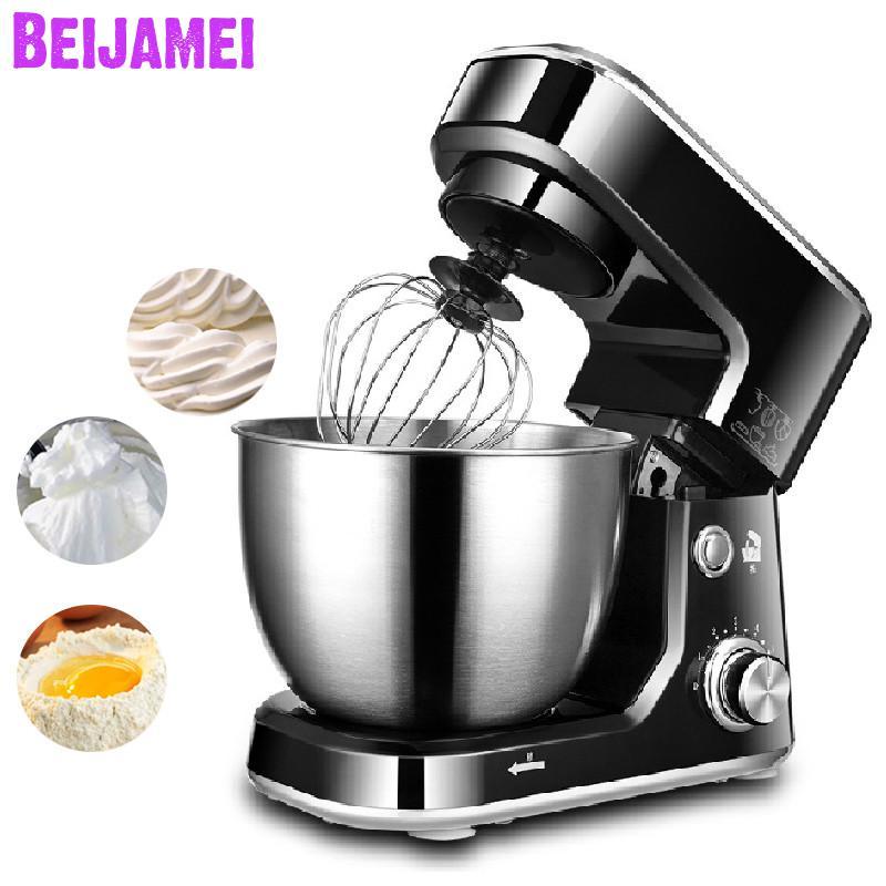 Beijamei 4 L 6 vitesses Stand mélangeurs d'aliments électrique crème oeuf fouet mélangeur gâteau pâte pain mélangeur Machine