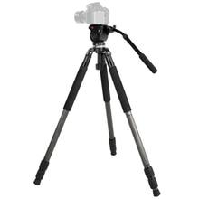 JIEYANG JY0509C Hidráulico de Vídeo Trípode con 65mm Tazón Cabeza Del Trípode, Trípode para Canon Nikon Sony Cámaras de Observación de aves Envío gratis
