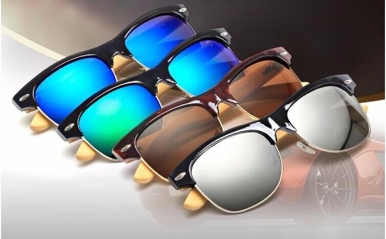 Ufficio Retro Wanita : っralferty naturale di bambù occhiali da sole degli uomini del