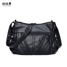 Ladies Bag Soft PU Leather Shoulder Bag Female Handbag Hobo Messenger Feminina Luxury Women Designer Bolsos Mujer Sac A Main new 2016 embossed leather boston women handbag fashion casual women bag ladies bag simple shoulder pillow bag bolsos sac a main