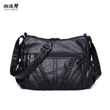 Ladies Bag Soft PU Leather Shoulder Bag Female Handbag Hobo Messenger Feminina Luxury Women Designer Bolsos Mujer Sac A Main