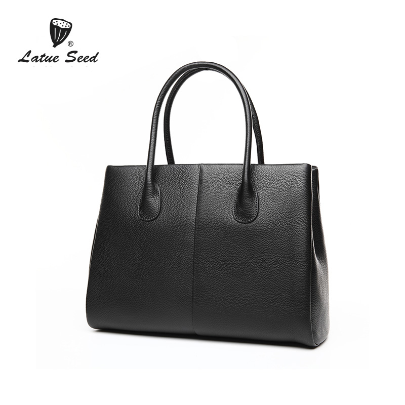 Latue Seed Genuine Leather WOmen Bag 2018 New Youth Fashion Simple Casual Splice designer bag Solid Handbag Latue Seed Genuine Leather WOmen Bag 2018 New Youth Fashion Simple Casual Splice designer bag Solid Handbag