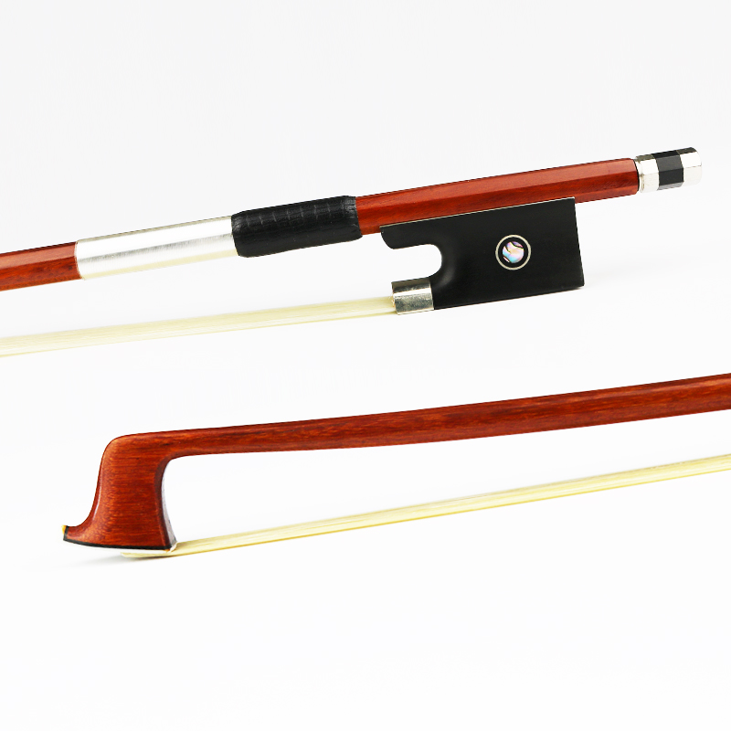 Master 4/4 Size Genuine Pernambuco Violin Bow Natural Mongolia Horsehair Ebony Frog Fast Response Violin Parts Accessories 127v 4 4 size violin bow carbon fiber core with pernambuco skin stick snakewood frog natural horsehair violin parts accessories
