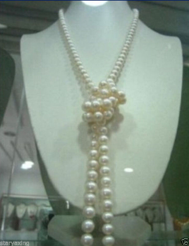 Free Shipping >>XFTN DRY Clasp 9-10mm AAA white Freshwater Cultured round pearl necklace 50 недорого