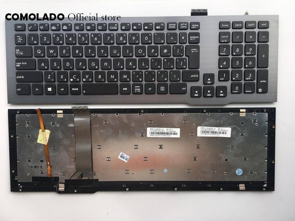 JP clavier japonais pour ASUS G75 G75VW G75VX noir avec cadre avec clavier rétro-éclairé JP mise en page