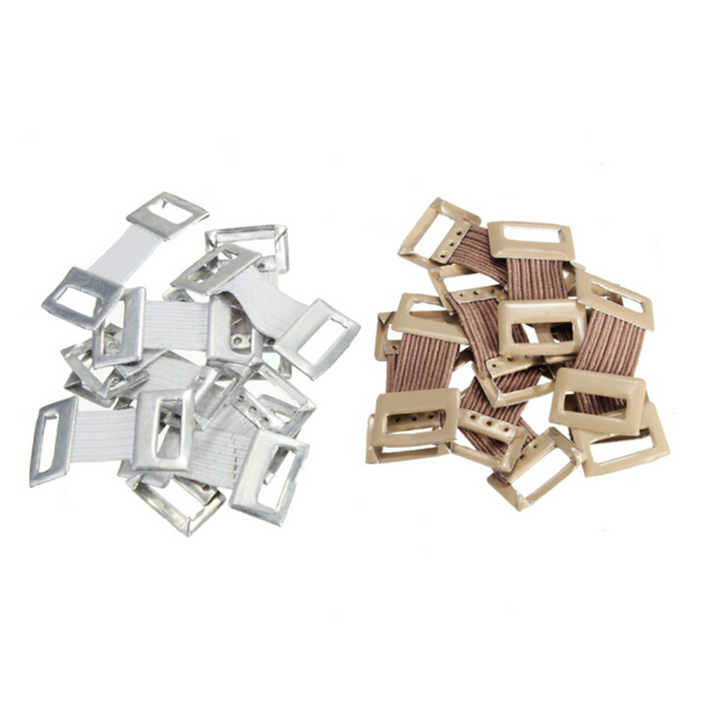 2019 Hot Sale Bandage Clips Replacement Elastic Bandage Wrap Stretch Metal Clips Fixation Clamps Hooks White Coffee Colors