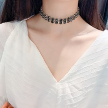Luxury Black Crystal Chokers Necklace Wedding Party Statement Necklace Jewelry Crystal Chocker Collar Web Celebrity Jewelry 2019 недорого