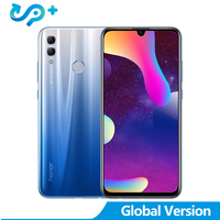 Global Version Huawei Honor 10 Lite Kirin 710 Full Screen 6.21 Octa Core 2340*1080P Mobile Phone Dual Font Rear Camera