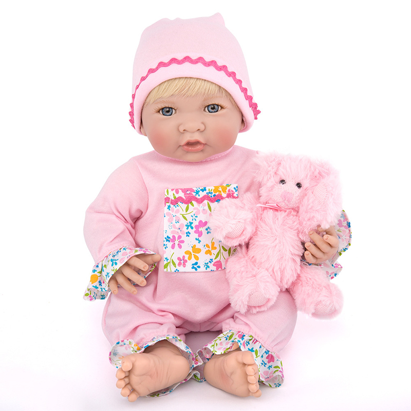 New 35CM Silicone Vinyl Doll Reborn Baby Dolls Girl Toys Soft Body Lifelike Newborn Babies Bonecas Toy Best Gift For Kid Child купить