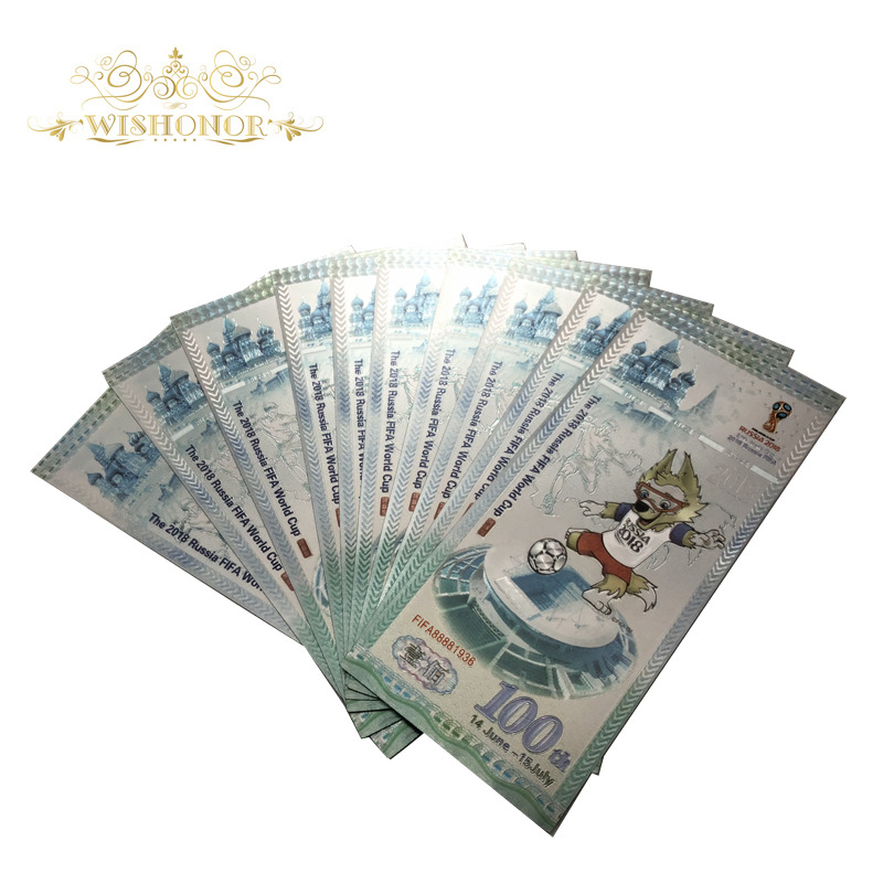 100Pcs Lot Color Banknotes Russia 100 Rubles Replica Fake Money Best Europe Business Gifts Banknotes Paper