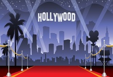 Laeacco Cartoon Hollywood Red Carpet Show Celebration Scene Photography Background Photographic Vinyl Backdrop For Photo Studio