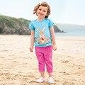 New Summer Girl Clothing set Sweet Cute girls outfits [ Rabbit T-Shirt + capri pants ] Children Set for girls