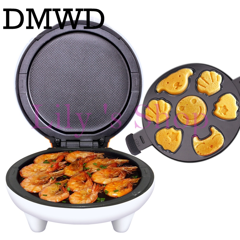 Electric pancake maker Multifunction cake pizza machine grill DIY breakfast griddle muffins baking pan roaster oven EU US plug mini household automatic donut baking machine electric non stick cake doughnut makers breakfast making pancake machine