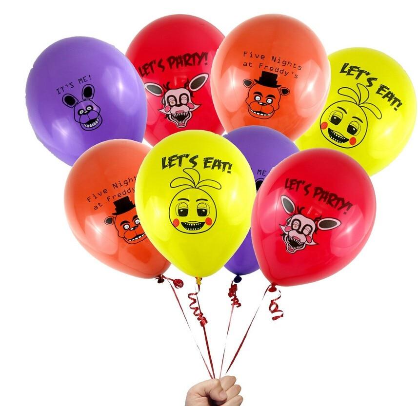 12 шт./компл. пять ночей у Фредди 12 дюймов мультяшный красочный печатный латексный игрушечный шар для вечеринки фестиваль заводская цена Бес...