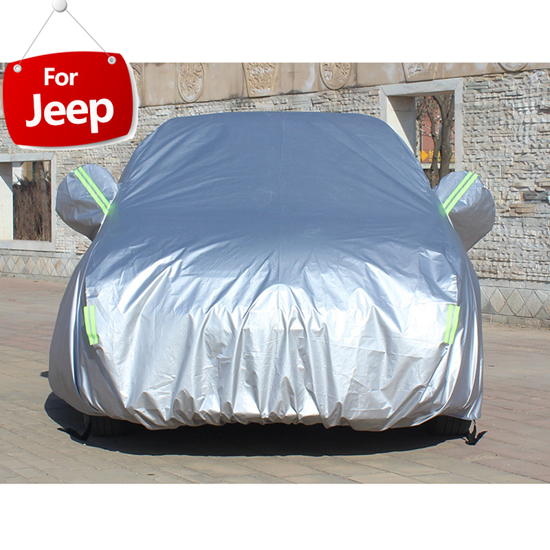 Full Car Covers For Car Accessories With Side Door Open Design Waterproof For Jeep Wrangler jk tj Renegade Compass Cherokee-in Car Covers from Automobiles & Motorcycles