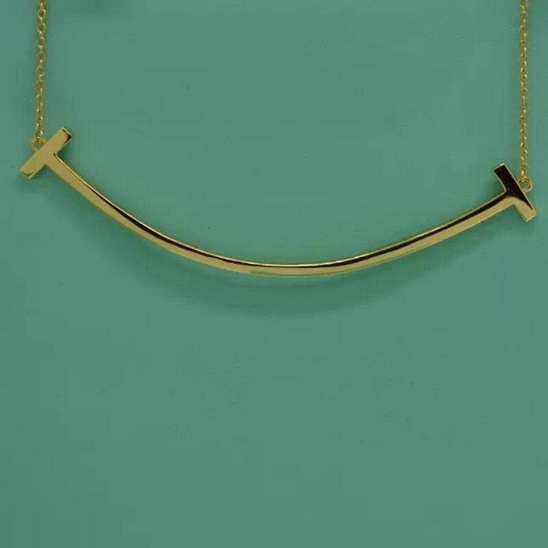 Doux T Sourire Ladys Foulard Collier en argent Massif 925 Pave Pierre conception originale Top Qualité Bijoux Femmes Cadeau